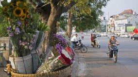 De scène van straat in Hanoi Vietnam 2015 Stock Afbeelding