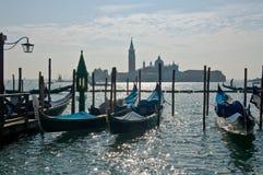 De scène van Venetië met gondels Royalty-vrije Stock Fotografie