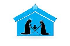 De Scène Vectorbeeld van de Kerstmisgeboorte van christus stock illustratie