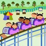 De scèneachtbaan van Carnaval stock illustratie