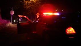 De Scèneonderzoek van de politiewagenmisdaad stock videobeelden