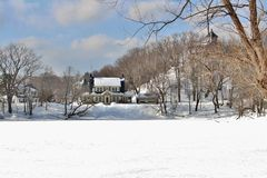 De Scènes van de de wintersneeuw Royalty-vrije Stock Afbeelding