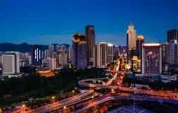 De scènes van de nacht van Chongqing Stock Fotografie