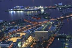 De scènes van de nacht van de haven Stock Foto's