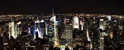 De Scènes van de nacht van de Stad van New York Stock Foto