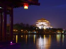 De architectuurnacht van China stock afbeeldingen