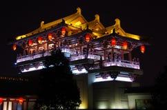 De architectuurnacht van China royalty-vrije stock afbeeldingen