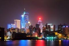 De scènes van de nacht van Macao royalty-vrije stock afbeeldingen