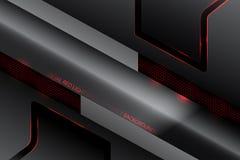De scènevector van de metaal rode verlichting vector illustratie