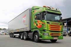 De Scania R520 del euro 6 de V8 camión semi Fotos de archivo
