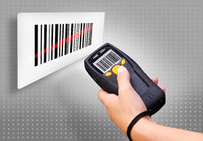 De Scanner van de streepjescode Stock Afbeeldingen