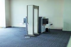 De Scannermachine van de luchthaventsa Veiligheidscontrole stock foto's