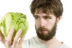 De Scepticus van de salade Stock Afbeelding