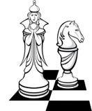 De schaakridder Royalty-vrije Stock Afbeeldingen