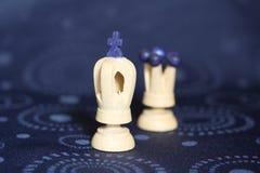 De schaakstukken van de koning en van de koningin Royalty-vrije Stock Foto's