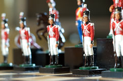 De schaakstukken van de militair Stock Fotografie