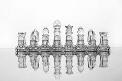 De schaakstukken van het glas Royalty-vrije Stock Foto