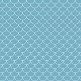 De schaal naadloos patroon van vissen stock illustratie