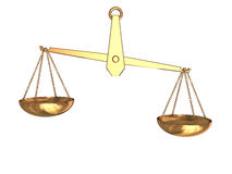 De schaal van de onevenwichtigheid Stock Afbeeldingen