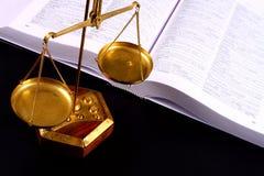 De schaal van de rechtvaardigheid Stock Afbeeldingen