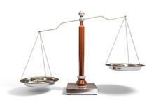 De schaal van het saldo royalty-vrije illustratie