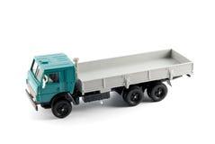 De schaalmodel van de inzameling van de vrachtwagen Aan boord Stock Foto's