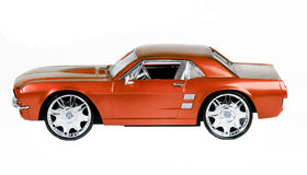 De schaalstuk speelgoed van het metaal auto Stock Afbeelding
