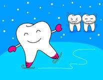 De schaats van het tandenspel Stock Afbeeldingen