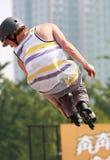 De schaatser van de rol Stock Foto's