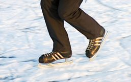 De schaatser van het ijs stock foto's