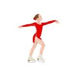 De schaatser van het meisje Royalty-vrije Stock Afbeelding