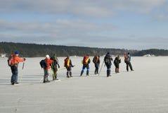 De schaatsergroep van de reis Stock Fotografie