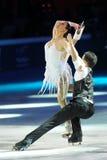 De schaatsers Cherlene Guignard & Marco Fabbri van het ijs Royalty-vrije Stock Foto
