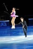 De schaatsers Nicole Della Monica & Matteo Guarise van het ijs Stock Foto