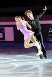 De schaatsers Nicole Della Monica & Matteo Guarise van het ijs Royalty-vrije Stock Foto