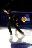 De schaatsers Tatiana Totmianina van het ijs & Stelregel Marinin Stock Afbeelding