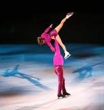 De schaatsers van het cijfer Stock Afbeeldingen