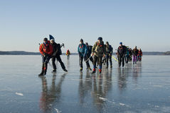 De schaatsers van het ijs Stock Afbeeldingen