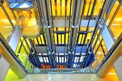 De schacht van de lift Stock Foto's