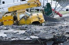 De Schade Berlijn Vermont van de vloed: Orkaan Irene stock fotografie