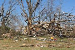 De schade KY 3 van de tornado Stock Afbeeldingen