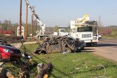 De schade TN 9 van de tornado Royalty-vrije Stock Fotografie