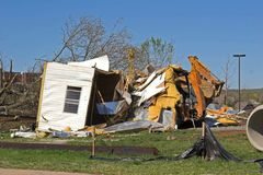 De schade TN van de tornado stock foto