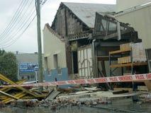 De schade van de aardbeving stock afbeeldingen