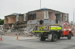 De schade van de aardbeving royalty-vrije stock foto