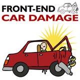 De Schade van de Auto van het voorEind vector illustratie