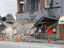 De schade van de bouw stock foto