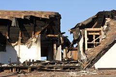 De Schade van de brand Stock Foto's