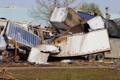 De Schade van de tornado Stock Afbeelding