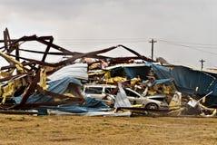 De Schade van de tornado Royalty-vrije Stock Fotografie